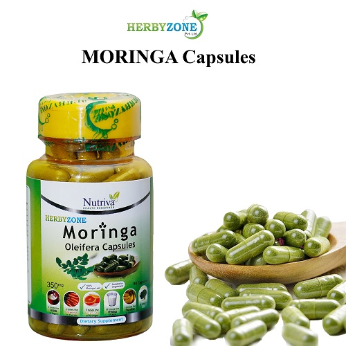 Herbyzone Moringa Capsules are made from Moringa leaves powder by Nutraceutical Company according to DRAP regulations. Moringa capsules are beneficial to regulate sugar level